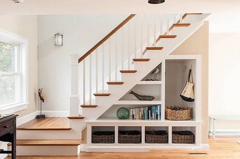Tận dụng khoảng trống để vừa tiết kiệm không gian vừa tăng tính thẩm mĩ cho căn nhà