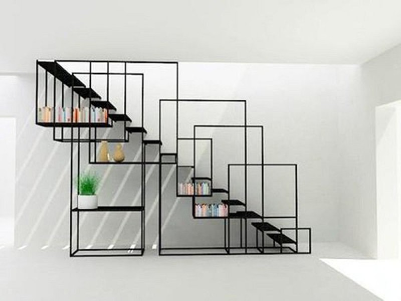 Cầu thang dọc nhà inox cực kỳ sáng tạo