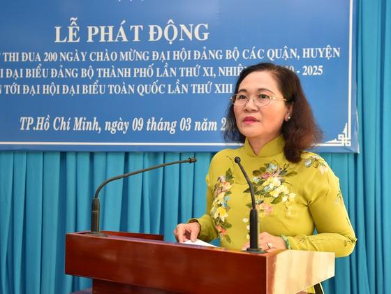 Đồng chí Nguyễn Thị Lệ phát biểu tại Lễ phát động. Ảnh: VIỆT DŨNG