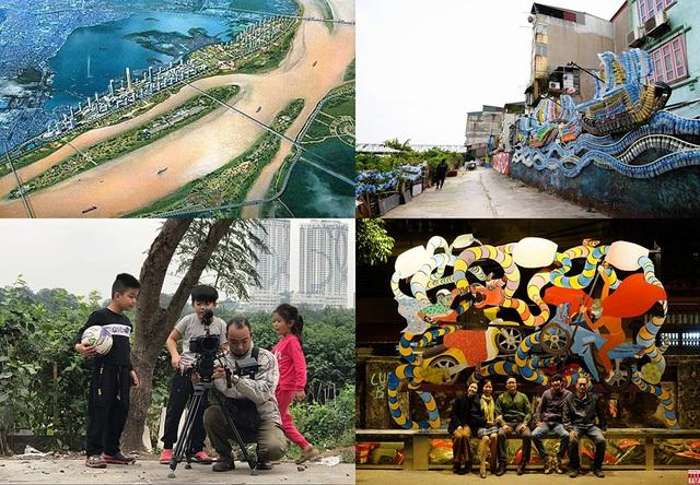 Dự án nghệ thuật tại 350m bờ vở sông Hồng của 16 nghệ sĩ Việt Nam và quốc tế hoàn thành tháng 2/2020 đem đến một không gian mới cho khu dân cư ngoài đê của Hà Nội