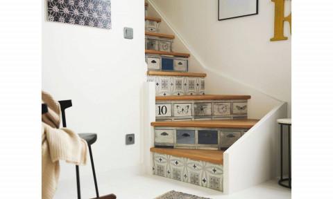 Gợi ý các kiểu ốp gạch hoạ tiết ở cầu thang
