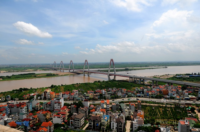 Quang cảnh khu Phú Thượng, quận Tây Hồ. Ảnh: Thanh Hải