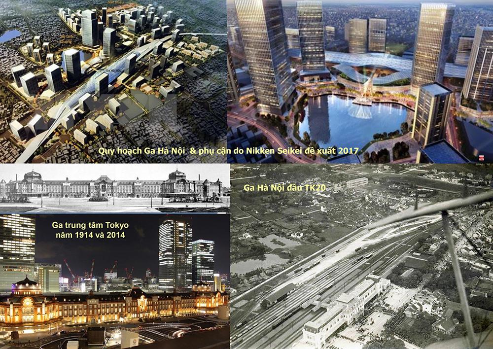 Quy hoạch phân khu Ga Hà Nội 2017; Bài học tái thiết ga Tokyo và hình ảnh Ga Hà Nội đầu TK20