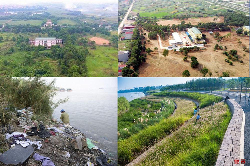 Bệnh viện bỏ hoang Mê Linh sau 10 ngày thi công thần tốc (ảnh trên); nếu có quyết tâm chỉ cần vài năm, 510 km sông Hồng chảy qua đất Việt bảo vệ chúng ta khỏi nạn khô hạn ô nhiễm