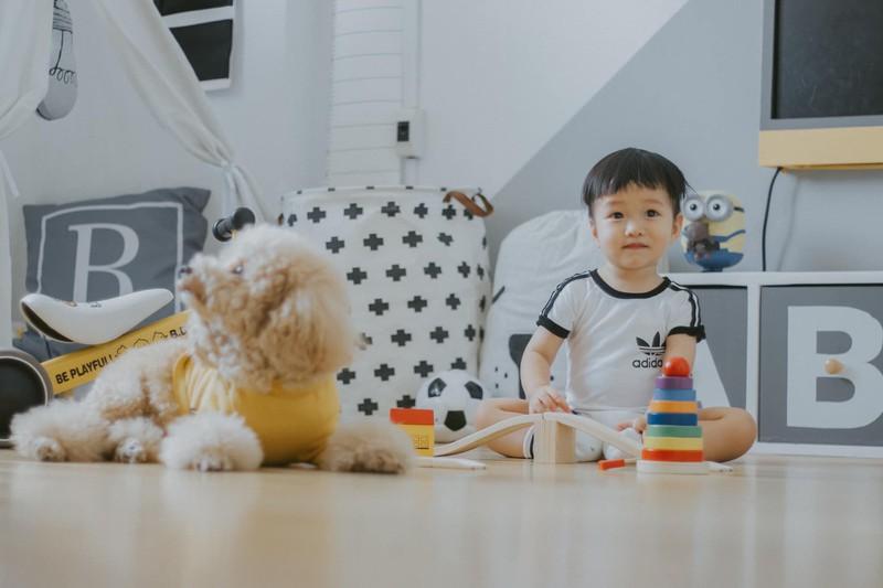 Căn phòng vừa là không gian sống, vừa là nơi bé có thể vui chơi và thỏa sức sáng tạo