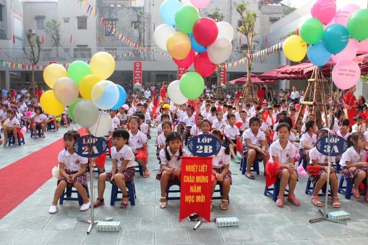 Thời gian qua, TP Hà Nội dành nhiều quỹ đất xây dựng trường học, giải bài toán quá tải trường lớp. Ảnh: T.G