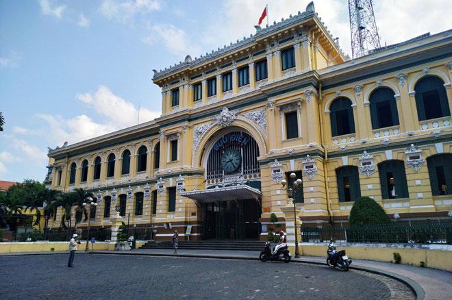 Bưu điện trung tâm thành phố Hồ Chí Minh. Ảnh: Tuệ An