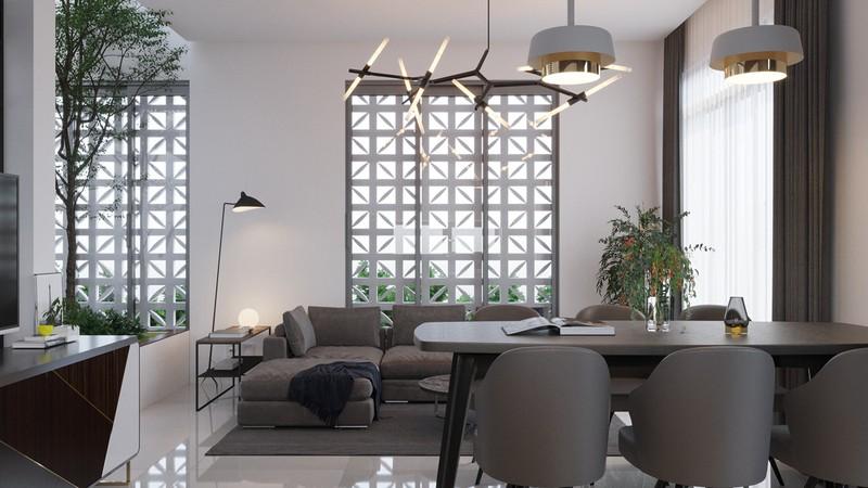 Điểm cộng thứ 2 của căn hộ nhỏ chính là tường làm bằng bông gió, cho phép ánh sáng và gió tự do di chuyển vào nhà.