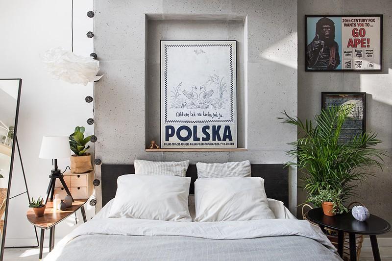 Tường bê tông được cá nhân hóa bằng những bức tranh hay cây xanh trang trí