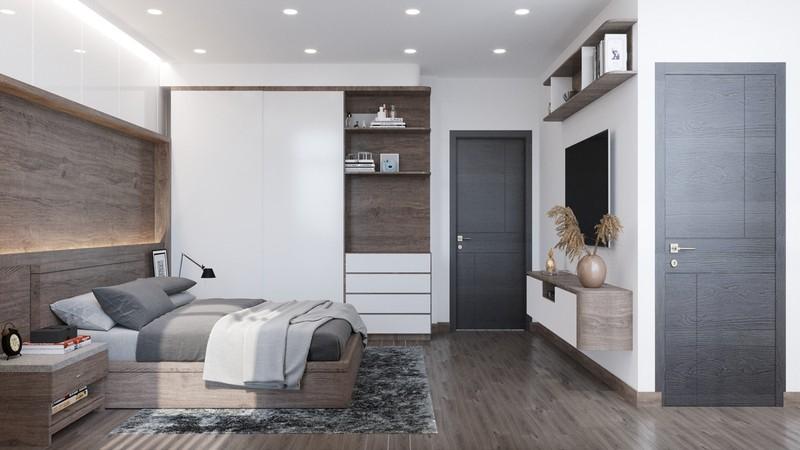 Gia chủ sử dụng tông màu trắng kết hợp với nội thất hiện đại nổi bật cho từng không gian sống.