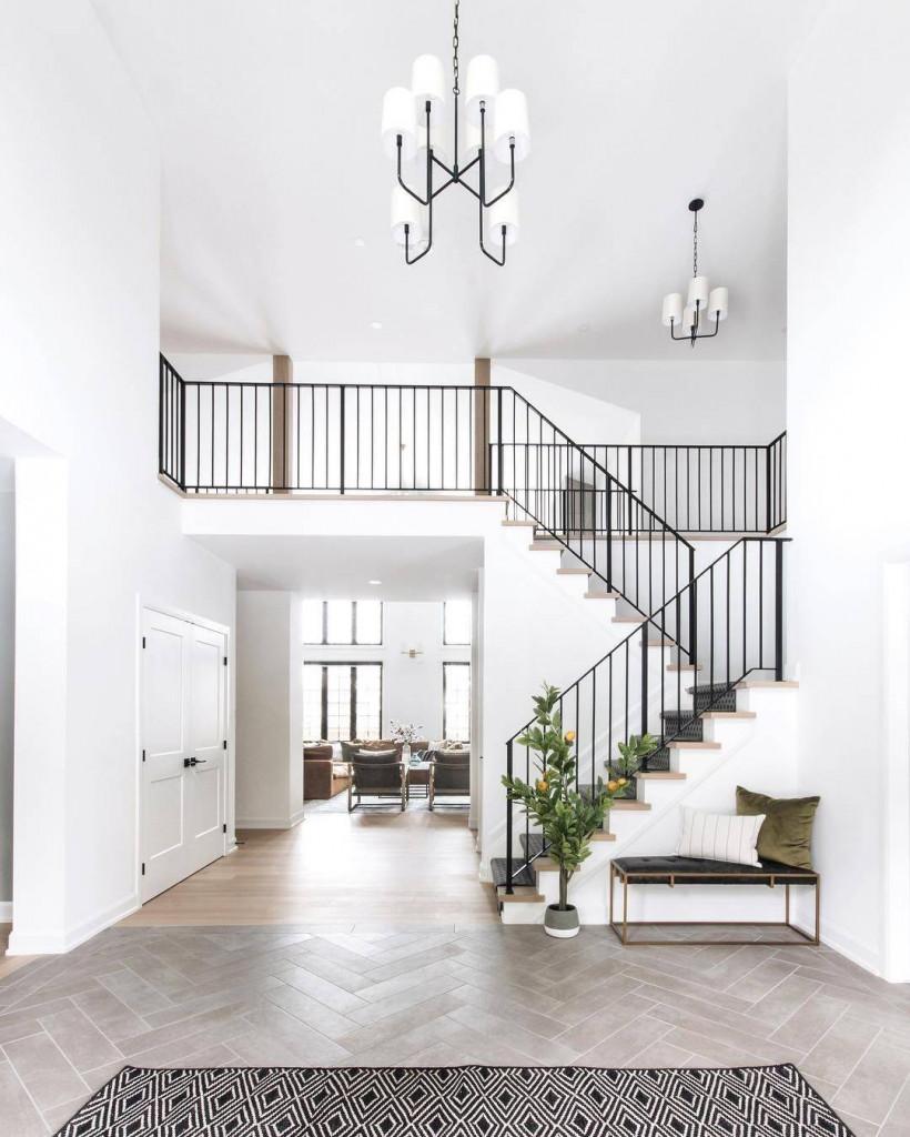 Chất liệu làm nên lan can cầu thang quyết định phong cách cho ngôi nhà