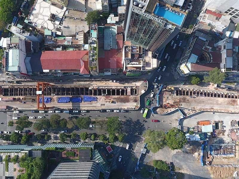 Ga Bến Thành đang được tuyển chọn ý tưởng thiết kế đô thị và không gian ngầm. Ảnh: THU TRINH