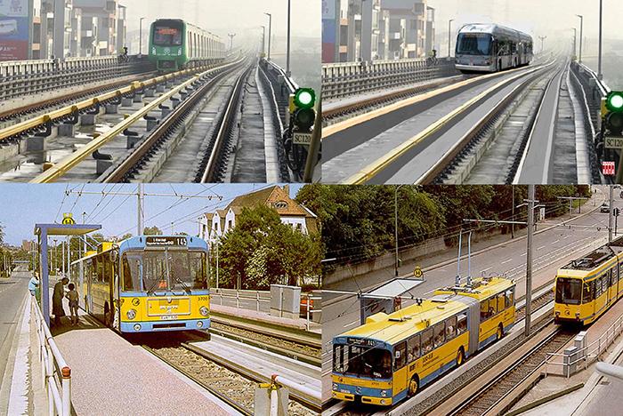 Đề xuất  bổ xung tuyến xe BUS chạy hai chế độ tại Hà Nội Tuyến đã vận hành tại Đức từ năm 1980, đã phát triển  tại Châu Âu và Australia  và  Nhật Bản