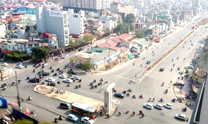 Tuyến đường đoạn qua Hoàng Cầu nối Kim Liên - Ô Chợ Dừa