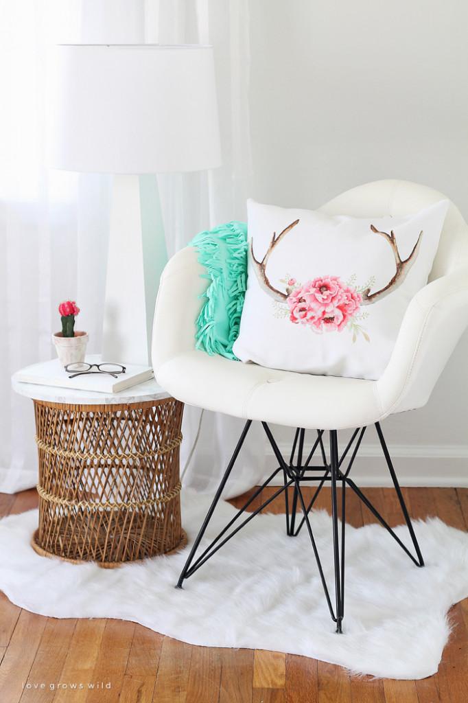 Tấm thảm mềm mại cho góc đọc sách thêm đẹp