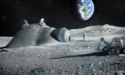 Nghiên cứu sản xuất bê tông xây căn cứ trên Mặt Trăng