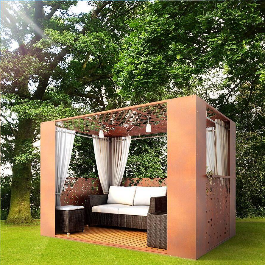 Biến tấu một chút với mái che pergola là bạn đã có một không gian nhỏ đầy lãng mạn cho một buổi hẹn hò ngoài trời