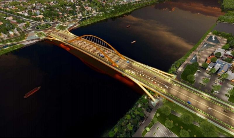 Phương án thiết kế kiến trúc cầu vượt sông Hương, mã số I156 được Hội đồng thi tuyển chọn là phương án tối ưu nhất
