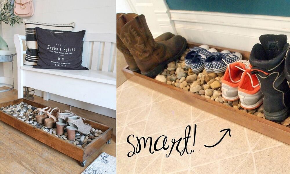 Khay đựng giày dép có thể di chuyển ở bất kỳ vị trí nào trong nhà tạo sự tiện lợi trong quá trình sử dụng