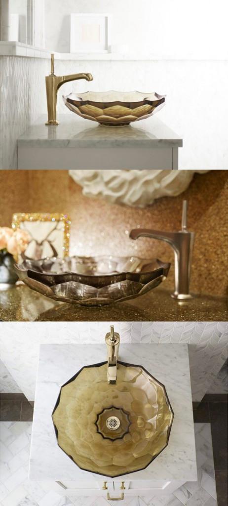 Chiếc bồn rửa lây cảm hứng từ những viên đá quý