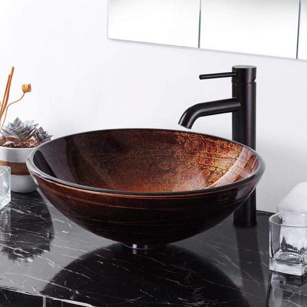 Bồn rửa lấy cảm hứng từ chiếc bát lớn, mang đến phong cách độc đáo trong phòng tắm