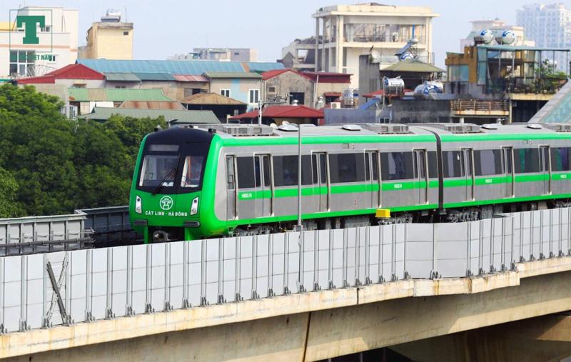 Đường sắt Cát Linh - Hà Đông nằm trong số 5 dự án đường sắt đô thị chậm tiến độ
