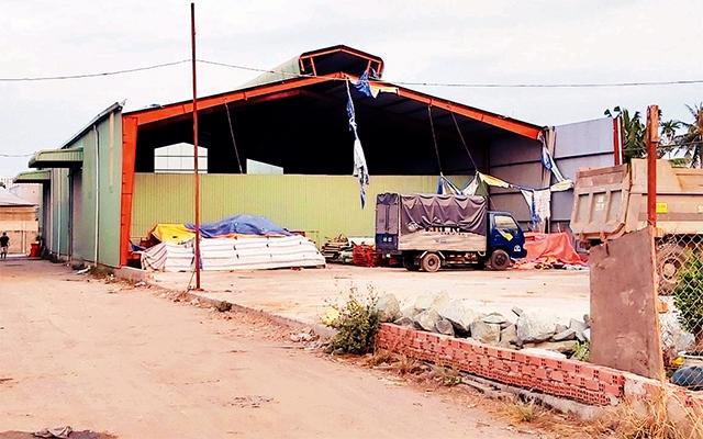 Một công trình vi phạm trật tự xây dựng tại khu phố 1, phường Thạnh Xuân, quận 12