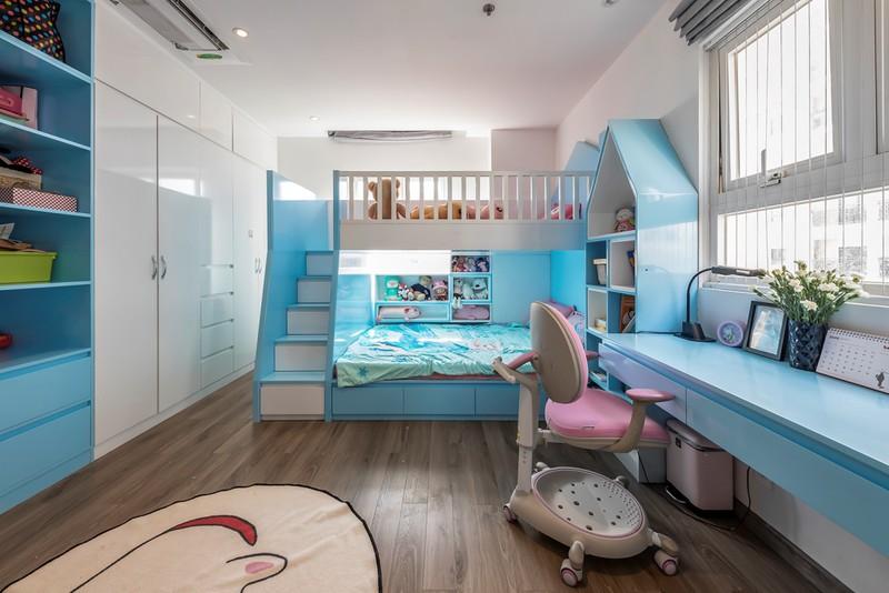 Giường tầng cho hai con là giải pháp tiết kiệm diện tích