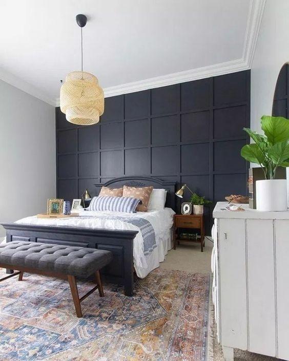 Quả không ngoa khi nói rằng mẫu tường hình học sẽ thay đổi toàn bộ không gian trong căn hộ của bạn