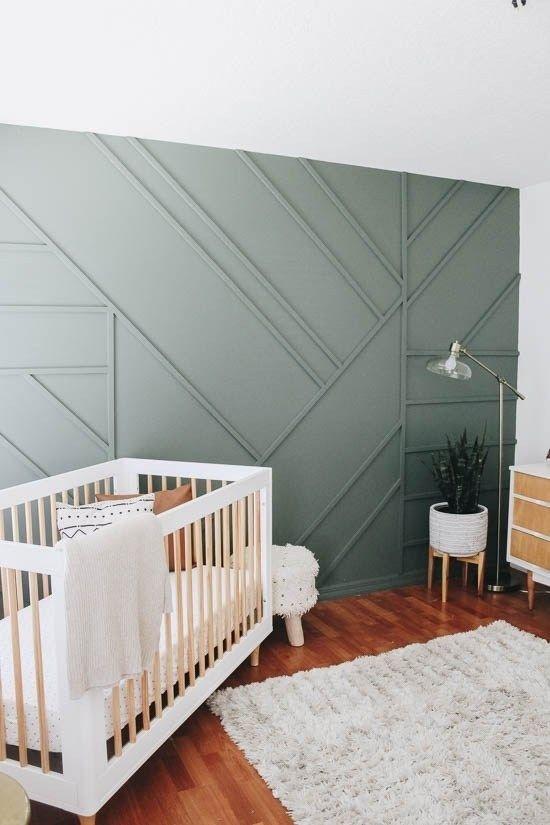 Tường hình học giúp căn phòng trở nên sống động, bớt nhàm chán