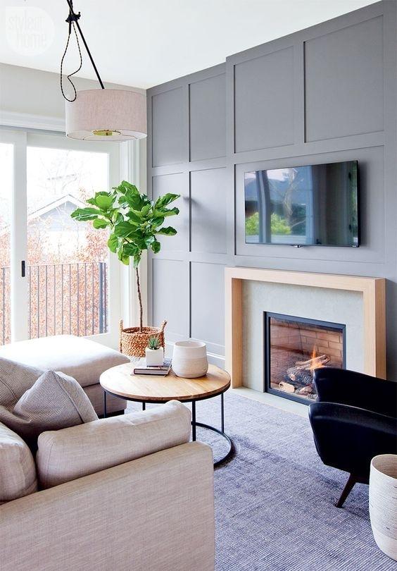 Không gian nhà bớt nhạt nhẽo, đơn điệu với mẫu tường hình học