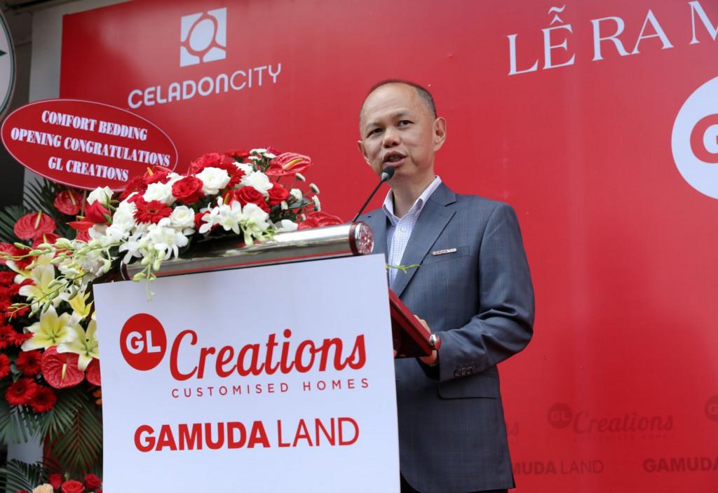 Ông Dennis Ng Teck Yow - TGĐ Gamuda Land (HCMC) phát biểu tại lễ ra mắt