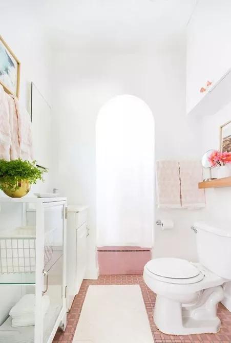 Sử dụng gạch lát nền màu hồng là một lựa chọn được rất nhiều gia đình yêu thích. Với tông màu nhẹ nhàng, gạch màu hồng sẽ mang lại cảm giác thư giãn, thoải mái cho bạn mỗi khi bước vào phòng tắm.