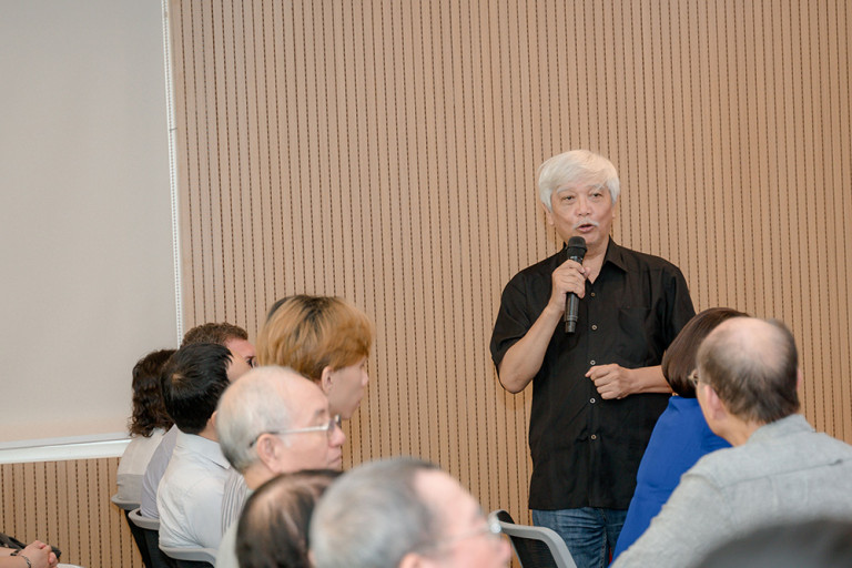 Nhà sử học Dương Trung Quốc – Phó chủ tịch, Tổng thư ký Hội Khoa học Lịch sử Việt Nam – Phó Chủ tịch Hội đồng tại buổi lễ