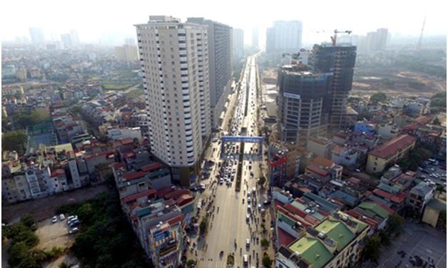 Một số khu vực tại thành phố Hà Nội có tốc độ tăng giá đất nhanh. Ảnh:Giang Huy