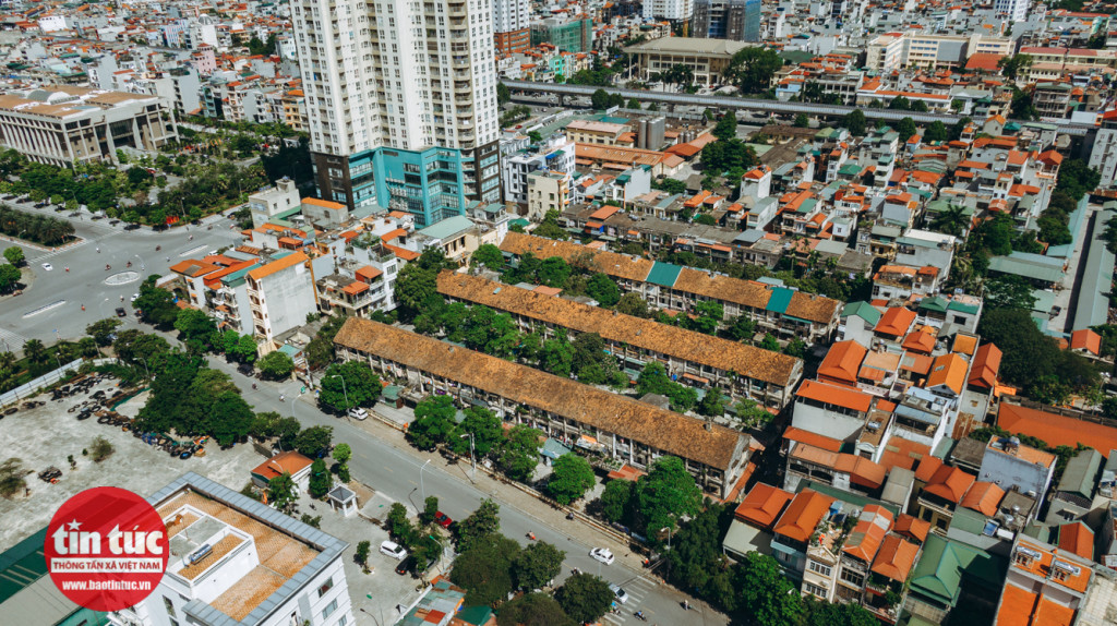 4 dãy nhà tại khu tập thể 3 tầng trên đường Lê Hồng Phong được xây dựng từ năm 1976