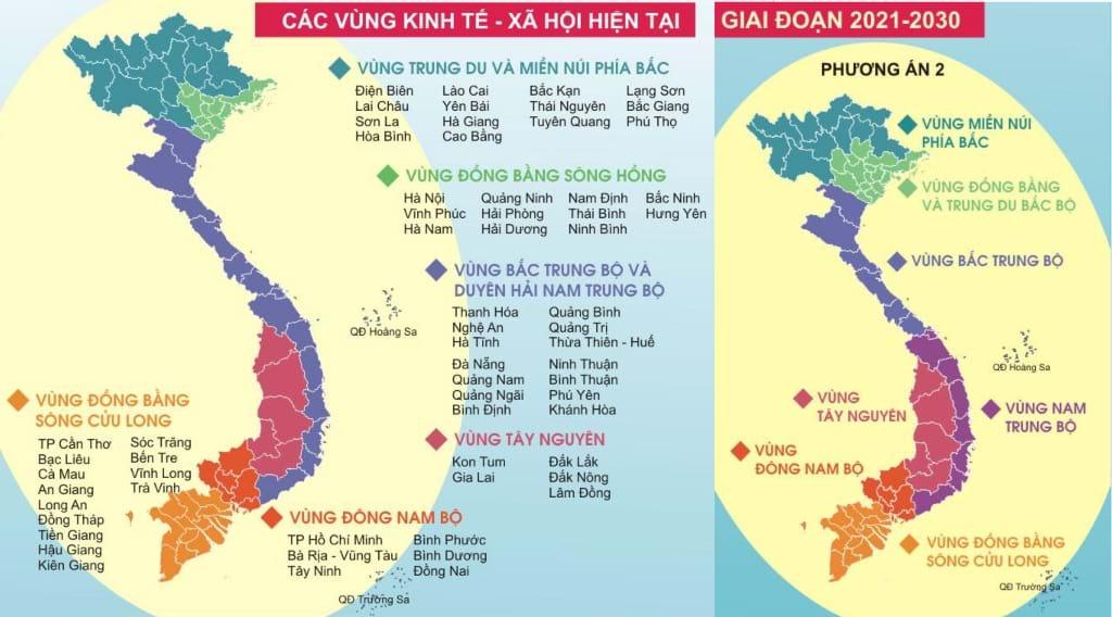 Phân vùng hiện trạng và đề xuất phân vùng mới. Ảnh: Hanoidata & Citysolution