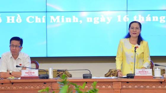 Đồng chí Nguyễn Thị Lệ, Phó Bí thư Thành ủy, Chủ tịch HĐND TPHCM phát biểu chỉ đạo tại buổi giao ban. Ảnh: VIỆT DŨNG