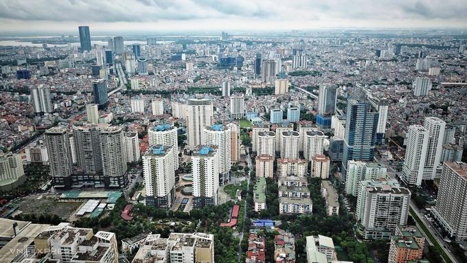 Thị trường căn hộ Hà Nội nhìn từ trên cao. Ảnh: Giang Huy