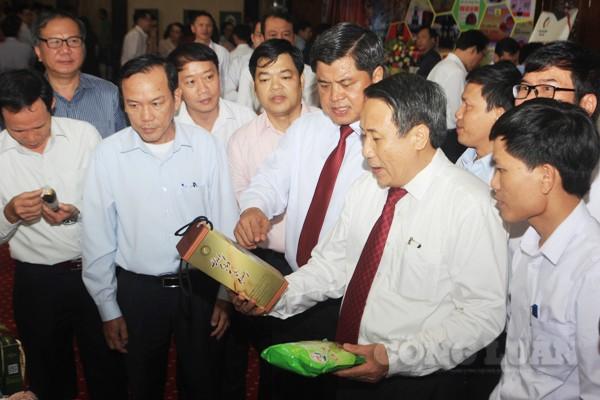 Tại Hội nghị NTM tỉnh Quảng trị đã giới thiệu sản phẩm OCOP hạng 3 sao, 4 sao