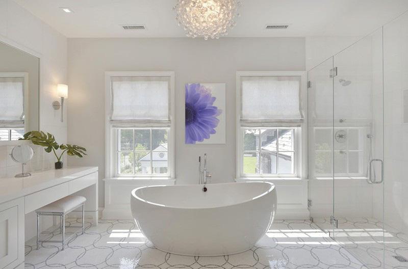 Bồn tắm oval là một lựa chọn thông minh cho căn phòng tắm của gia đình bạn