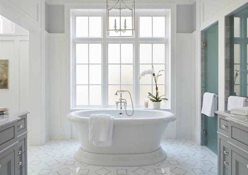 Mẫu bồn tắm oval với kích thước nhỏ xinh rất thích hợp với những gia đình có diện tích phòng tắm eo hẹp