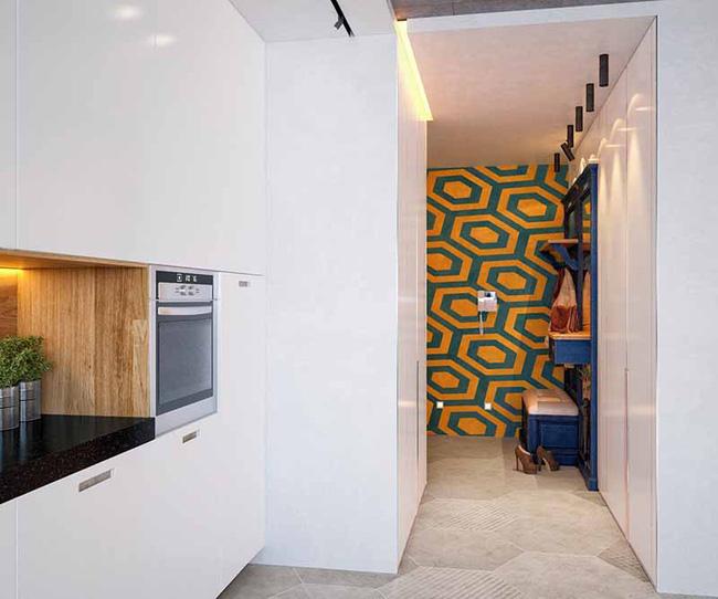Thay vì để những mảng tường nhỏ đơn điệu thì việc trang trí chúng bằng họa tiết hình học khiến ngôi nhà của bạn trở nên cá tính và độc đáo hơn rất nhiều