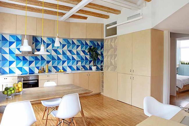 Bạn có thể tưởng tượng nếu không có họa tiết hình học thì căn bếp gia đình sẽ trông tẻ nhạt hơn đi rất nhiều không?