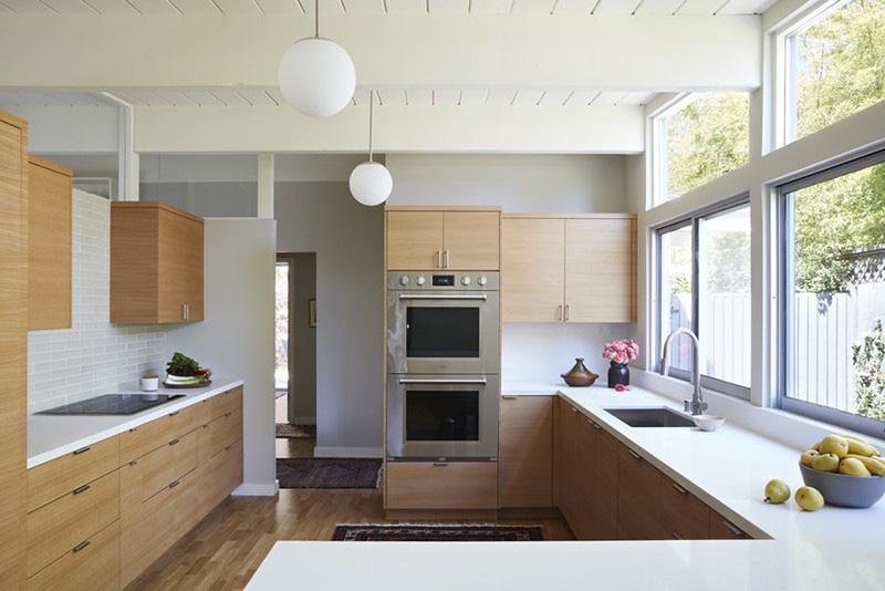 Chất liệu gỗ sáng màu rất thích hợp cho những gia đình yêu thích phong cách hiện đại, trẻ trung
