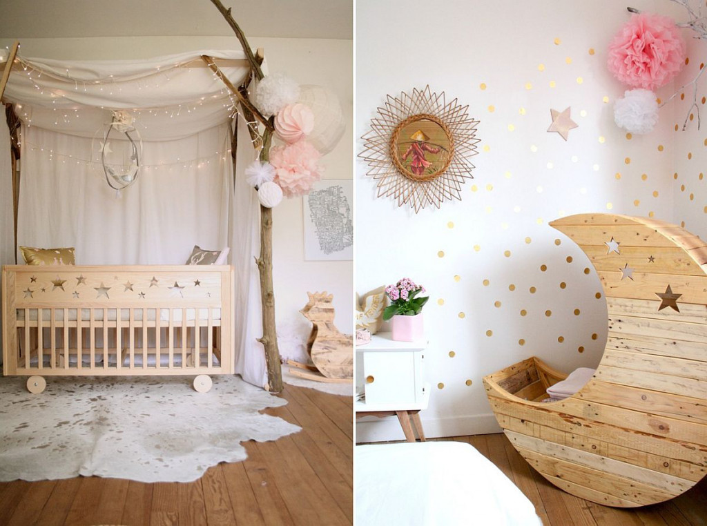 Kết hợp Shabby Chic với phong cách tối giản, hiện đại để tạo nên hơi thở sinh động cho phòng của bé