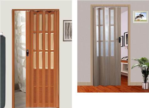 Mẫu cửa xếp nhựa giả gỗ PVC