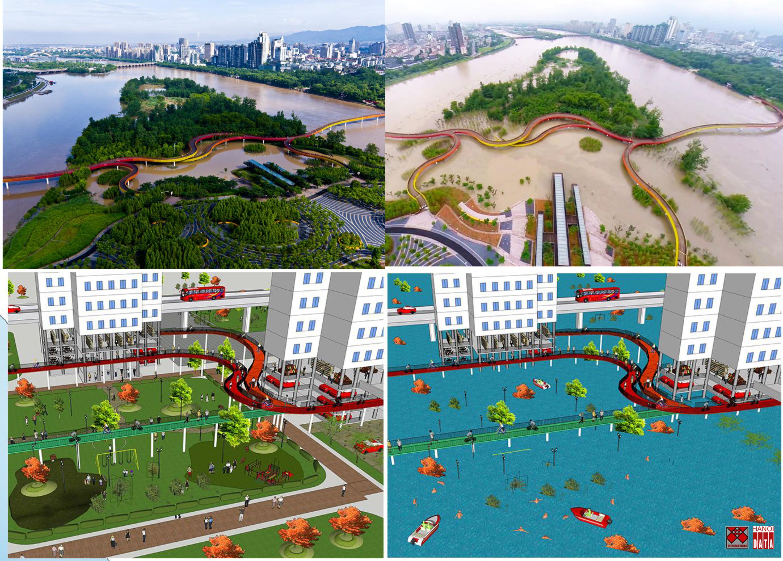 Công viên bãi giữa  sông hai mùa lũ cạn tại Chiết Giang  (Trung Quốc) và đề xuất khu dân cư hai mùa lũ cạn ngoài đê sông Hồng Hà Nội