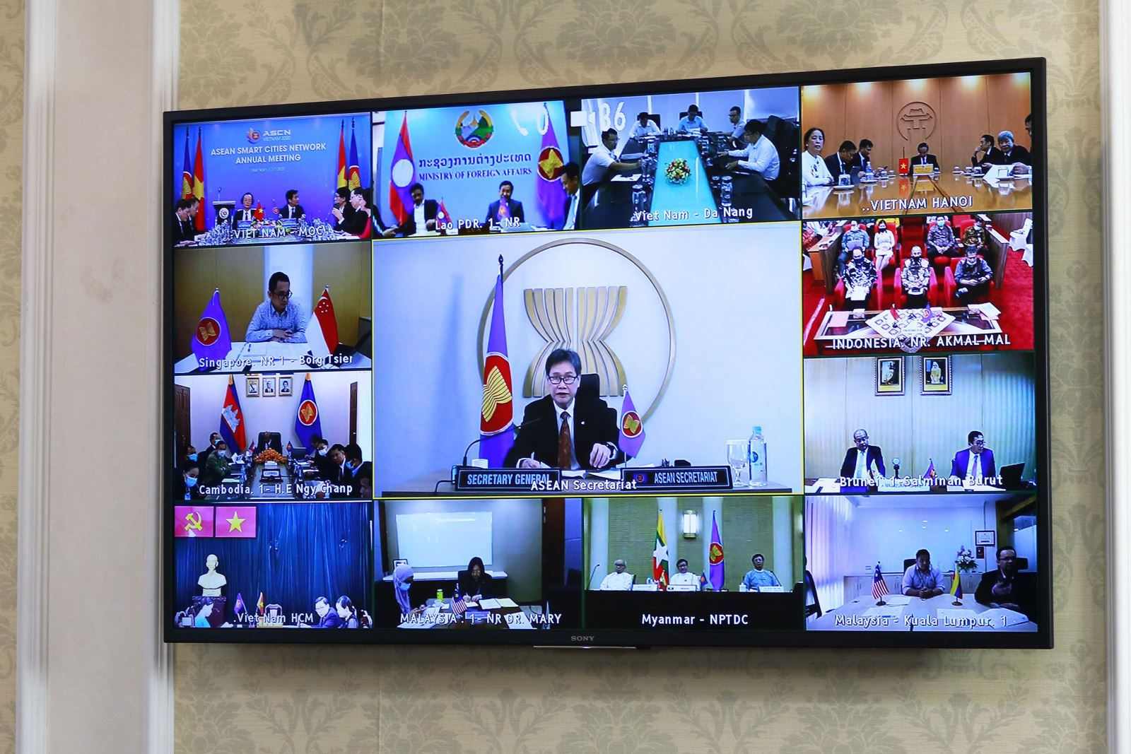 Tổng thư ký ASEAN Lim Jock Hoi phát biểu tại Hội nghị