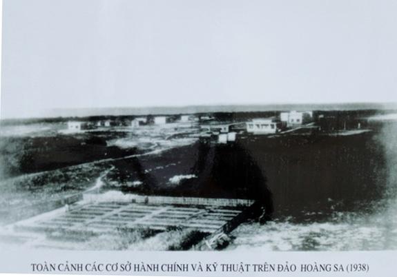 Các cơ sở hành chính và kỹ thuật trên đảo Hoàng Sa năm 1938. Ảnh tư liệu